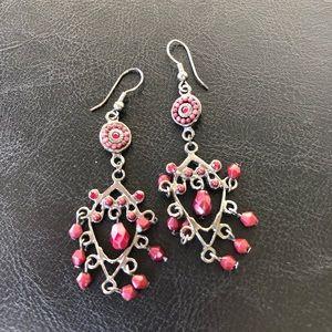 Jewelry - red dangle earrings